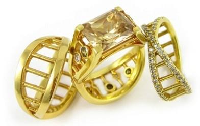 设计师katey brunini 设计的dna戒指