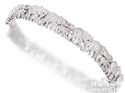 钻石配红宝石「大象」手链,卡地亚 (Cartier) ,50万港元成交