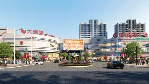 街道背景素材商场