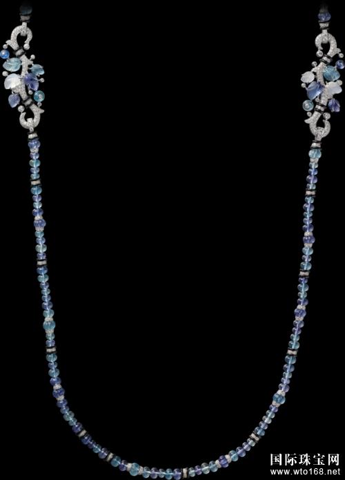 卡地亚珍贵雕刻宝石珠宝作品