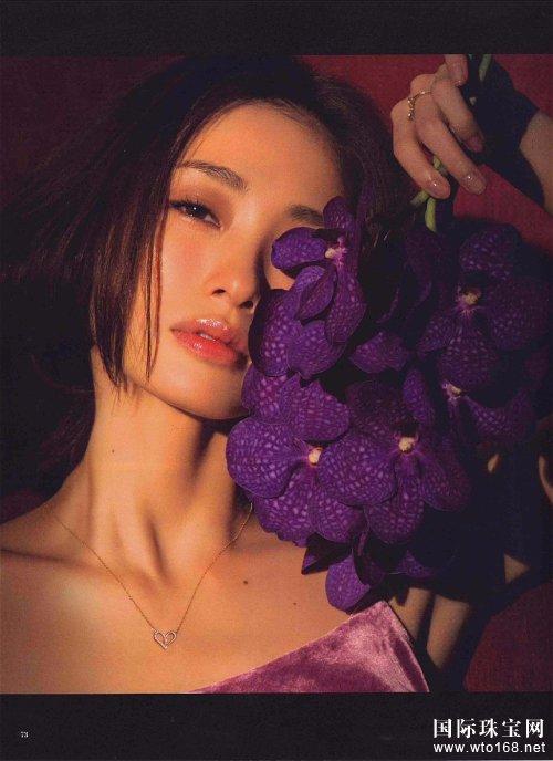 上户彩代言珠宝拍大片 散发成熟女子魅力气息