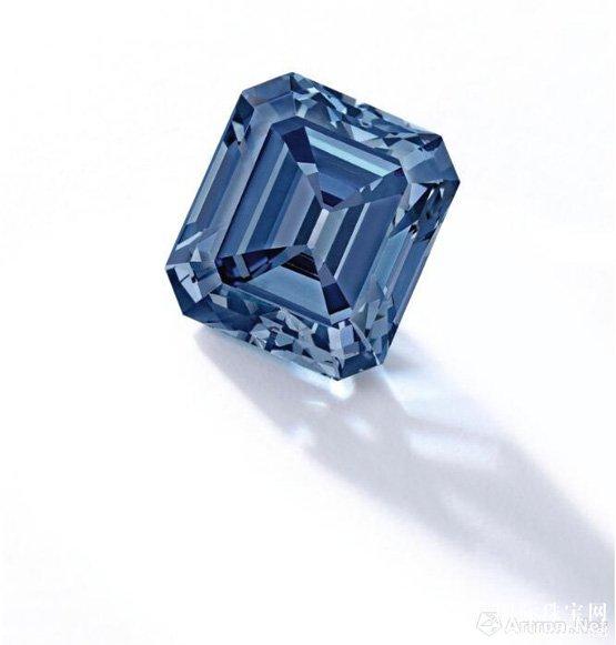 1.08亿港币!5克拉艳彩蓝色钻石配钻石戒指成交