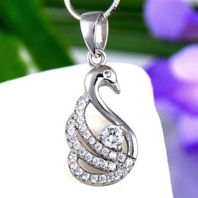 仙鹤银饰吊坠_国际珠宝网—全球最大的珠宝门户网站