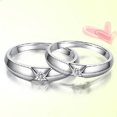 爱的蜜方钻石对戒