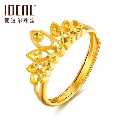 女王的皇冠黄金戒指