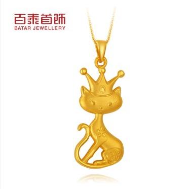 百泰首饰|皇冠猫咪黄
