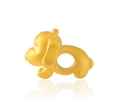 生肖狗黄金吊坠