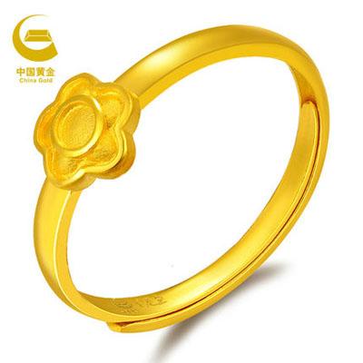 中国黄金-幸福花儿戒