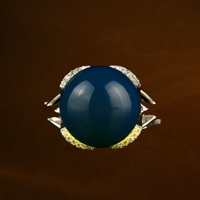 独当一面琥珀戒指