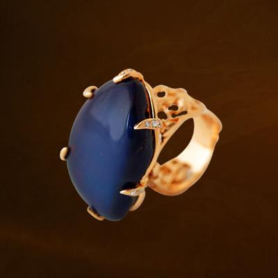尊上琥珀戒指