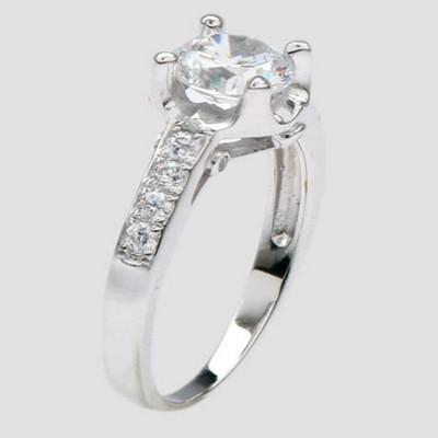 爱情海银饰戒指
