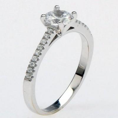 相恋银饰戒指