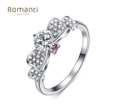 罗曼蒂珠宝|蝴蝶结白