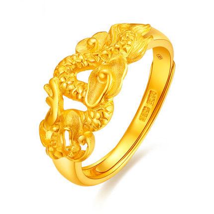 足金生肖龙戒指