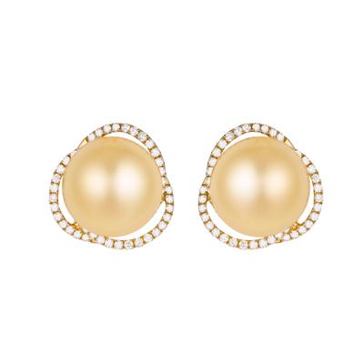 密不可分珍珠耳环