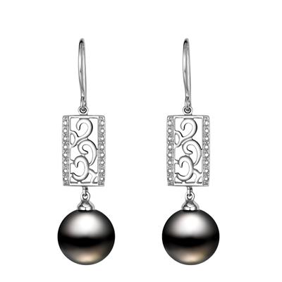 高贵气质珍珠耳环