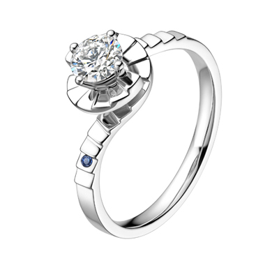 爱情梯钻石戒指