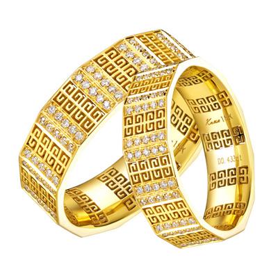 华丽高贵钻石婚戒