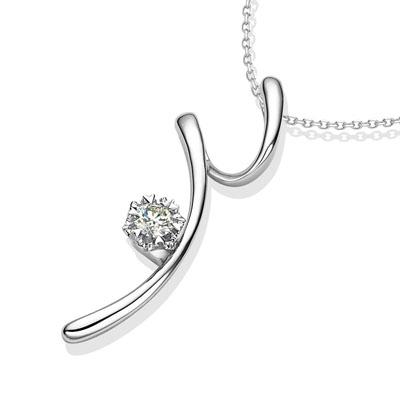 美人心钻石吊坠