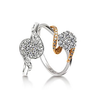 妩媚娇柔钻石戒指