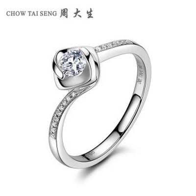周大生恒恋钻石戒指